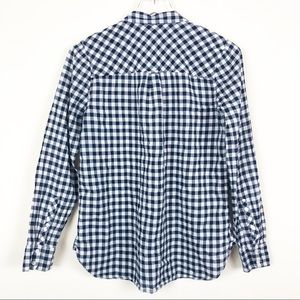 J. Crew Tops - J Crew Classic Fit Boy Shirt In Crinkle Gingham